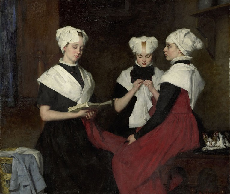 Thérèse_Schwartze: Three Inmates of the Orphanage at Amsterdam,1885