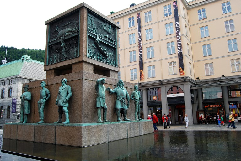 The monument to seafarers – each side covers a different era