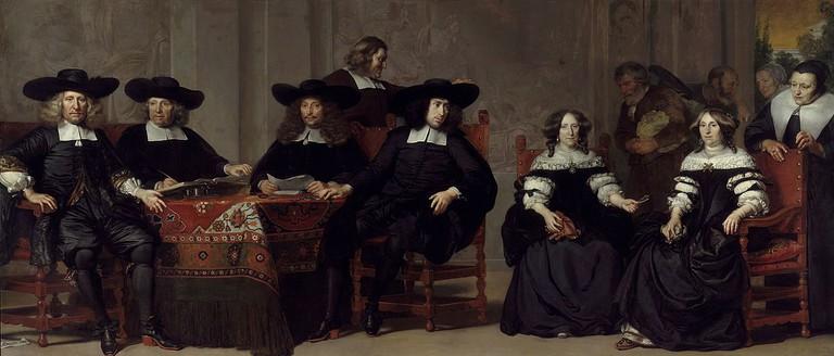 Adriaen Backer: Amsterdam Almshouse regents, 1676