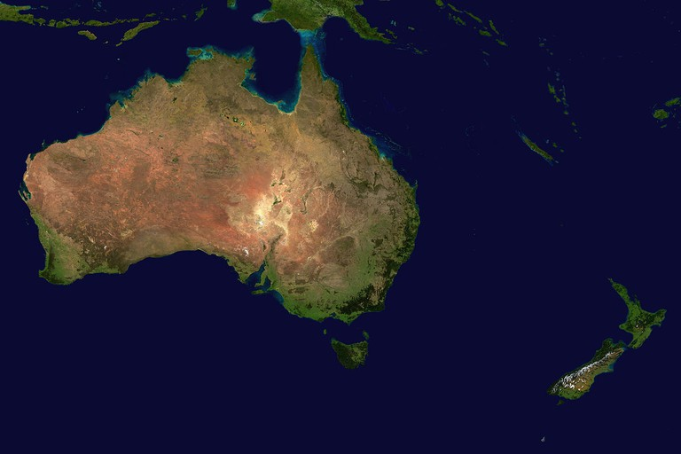 Australia and New Zealand topic image Satellite image