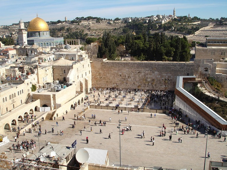 Aerial view of the Western Wall
