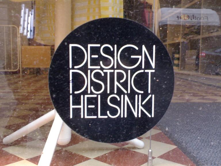 Sign for the Designer District / IK's World Trip / Flickr