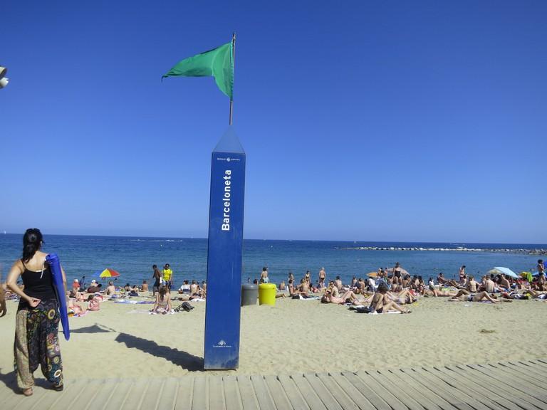 The Barceloneta beach