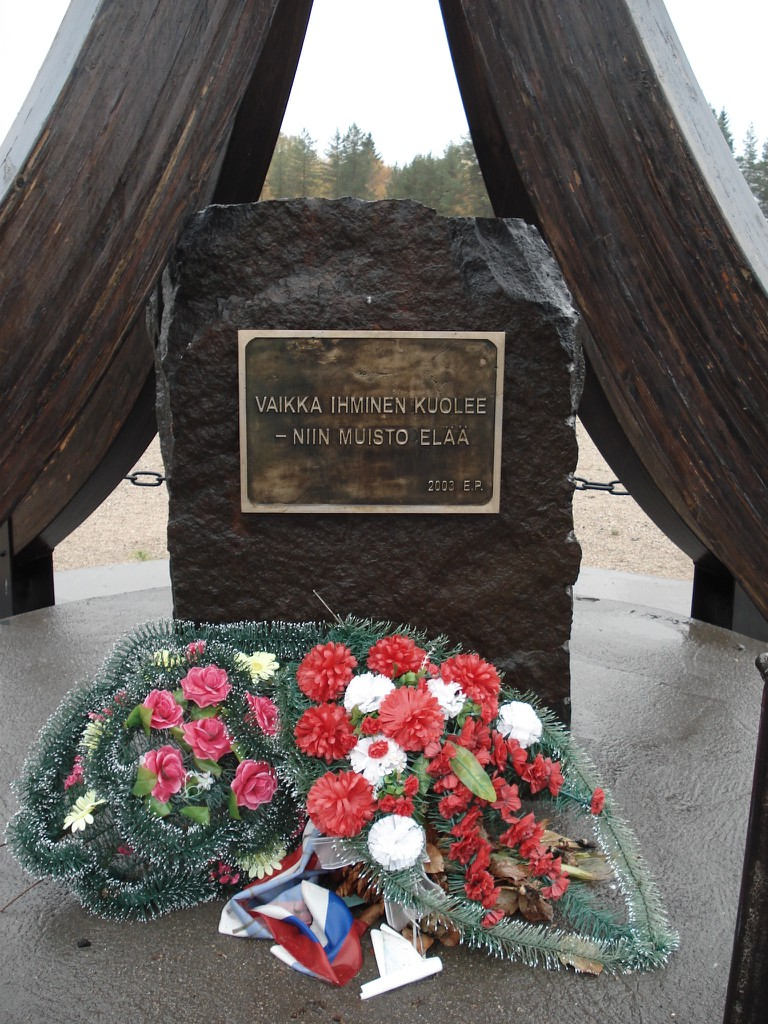 The Winter War memorial at Suomussalmi