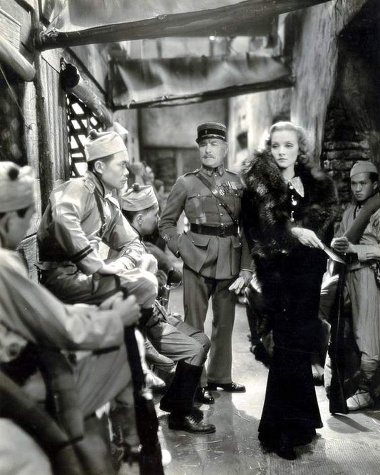 "Shanghai Lily (Marlene Dietrich) and Major Lenard (Émile Chautard, Sternberg's mentor) in ""Shanghai Express"" (1932)"