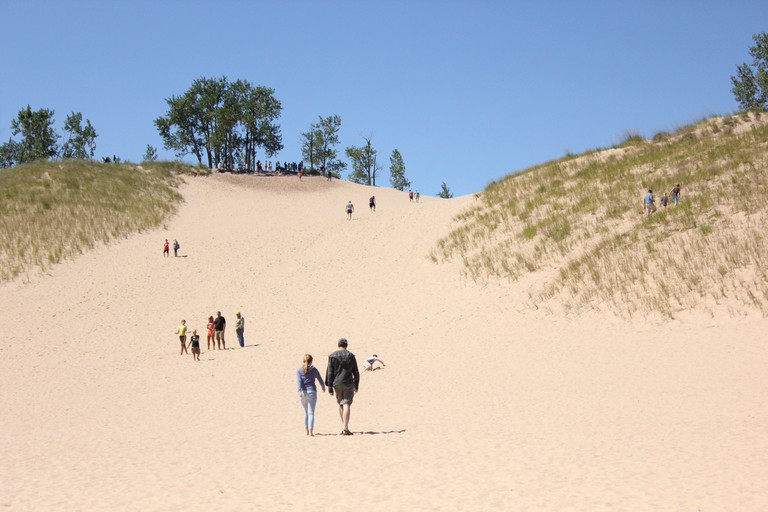 "The ""Dune climb"" at Sleeping Bear Dunes National Lakeshore 