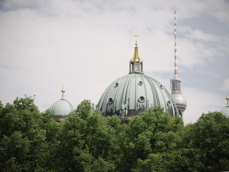 A green Berlin skyline