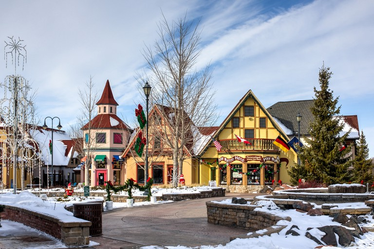 Bavarian buildings in Frankenmuth | © Christopher Woodrich/Flickr