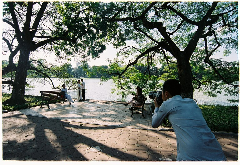 Hoan Kiem Lake in central Hanoi