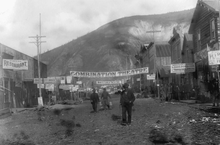 First Avenue in Dawson City, c.1898