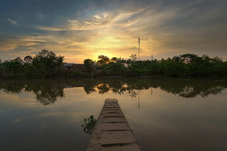 Sunset in Mekong delta | © Jos Dielis / Flickr