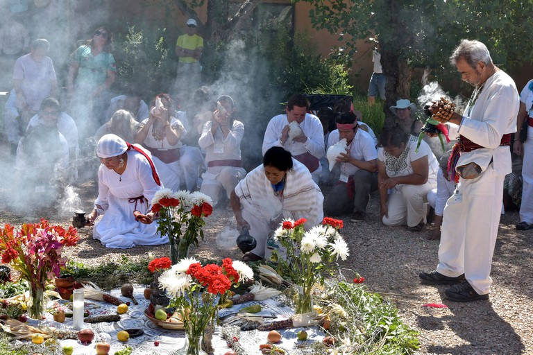 A traditional healing ceremony