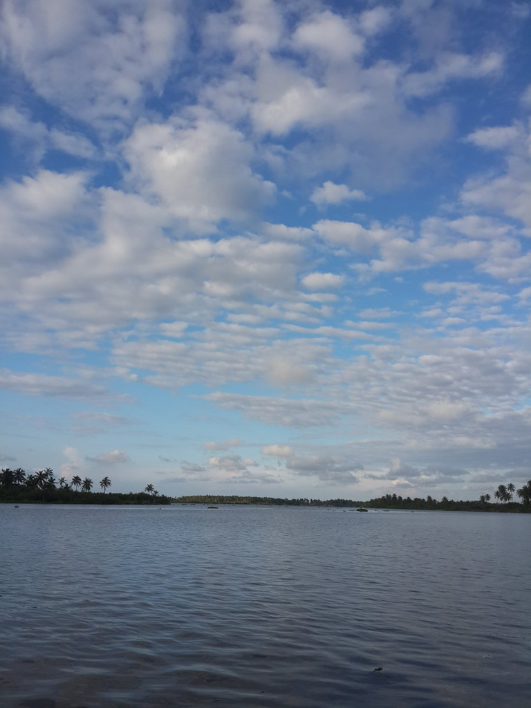 Backwater and a view of the sky at Ikare, Lagos