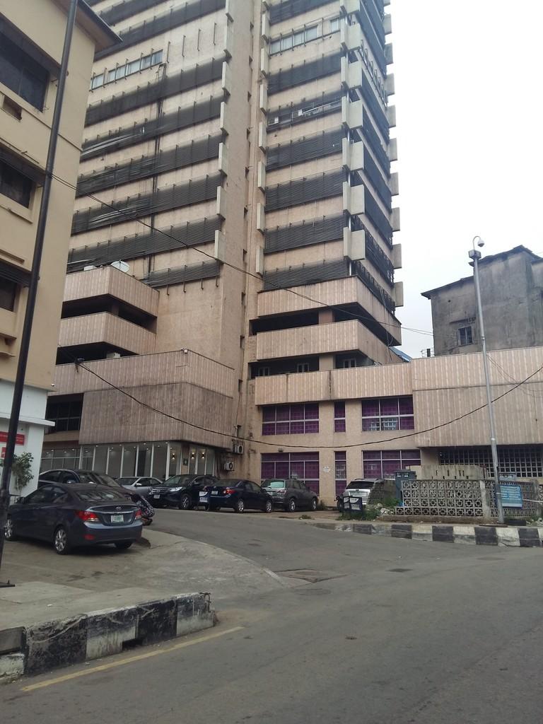 A street in Marina, Lagos.