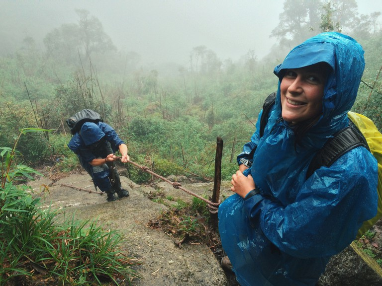 Trekking in the rain in Sapa