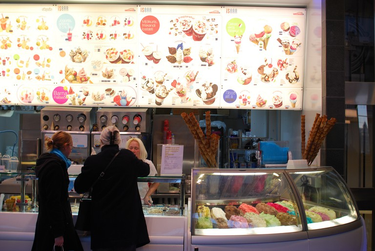 Iceland, Ice cream shop in mall