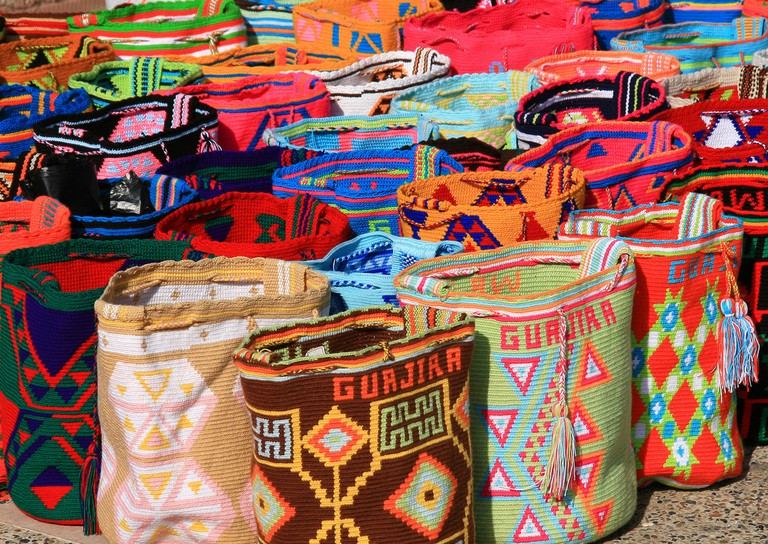 Beautiful Wayuu mochilas in Cartagena