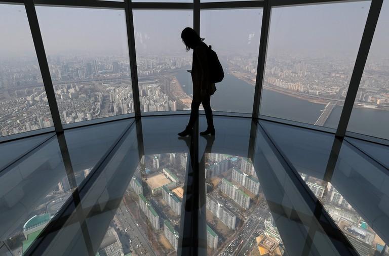Observation deck at Lotte World Tower