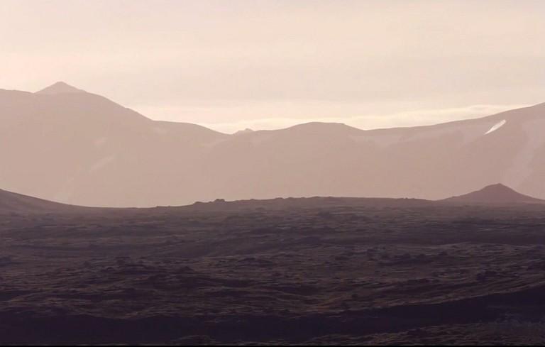 Landmark Iceland sunset