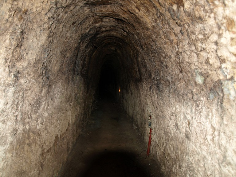 Inside the Cu Chi Tunnels which were expanded for visiting