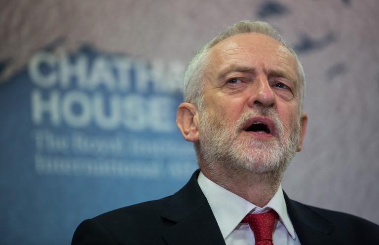 Jeremy Corbyn on the campaign trail