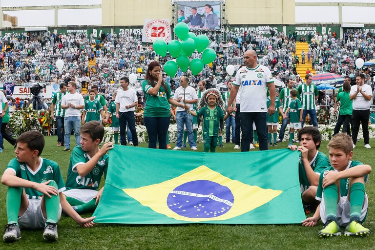 Ceremony in memory of Chapecoense air disaster victims
