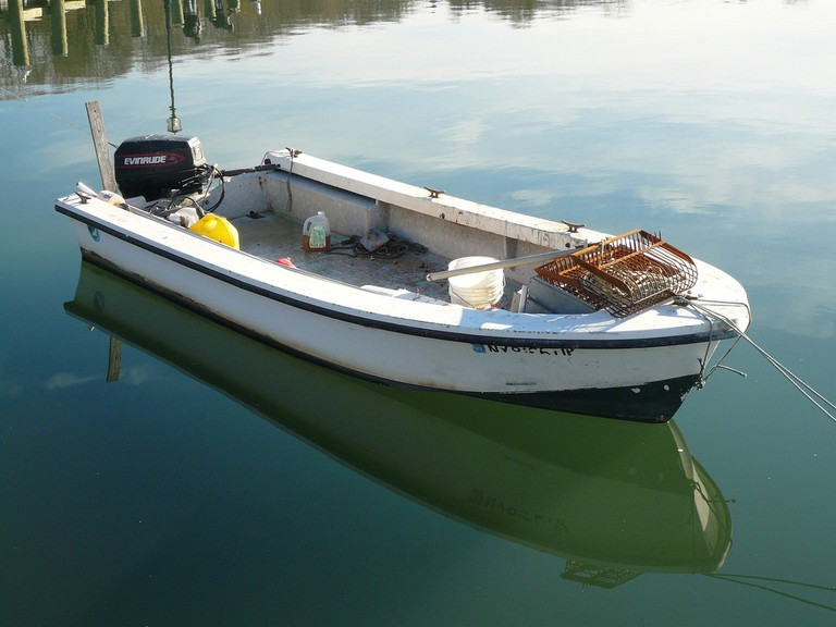 small boat on the water