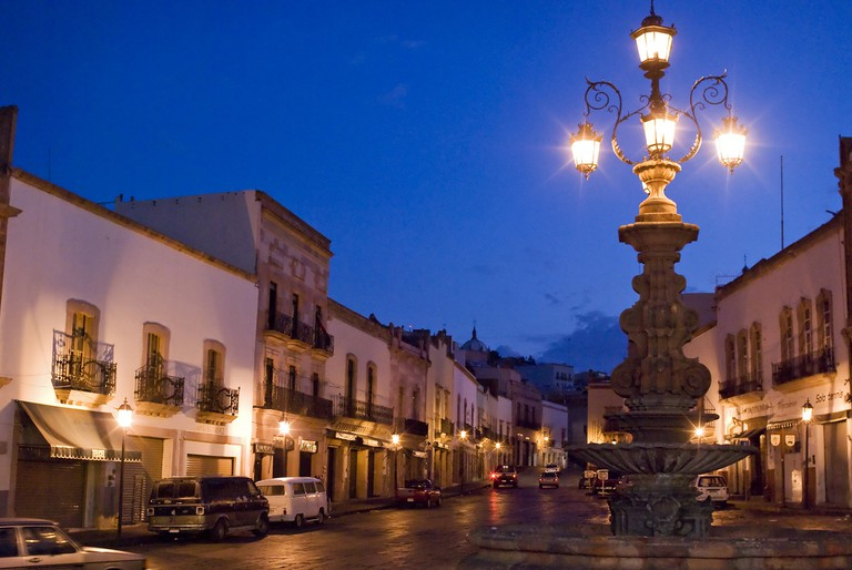 The deserted streets of Zacatecas, the state capital