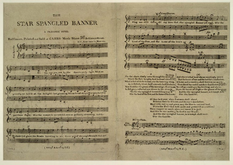 "The first sheet-music issue of ""The Star-Spangled Banner"""
