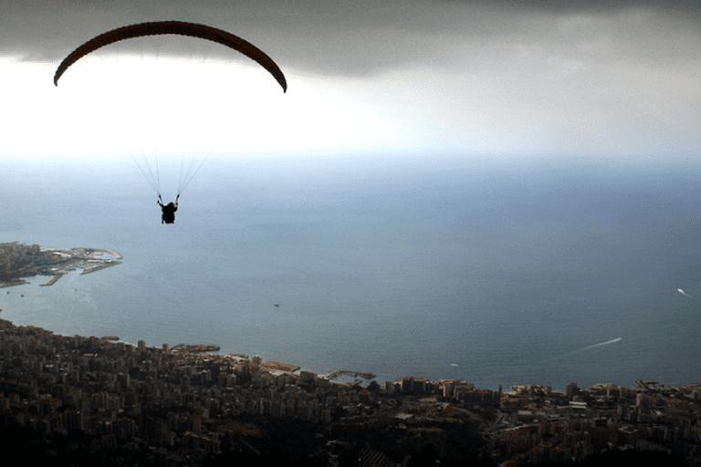 Paragliding over Beirut