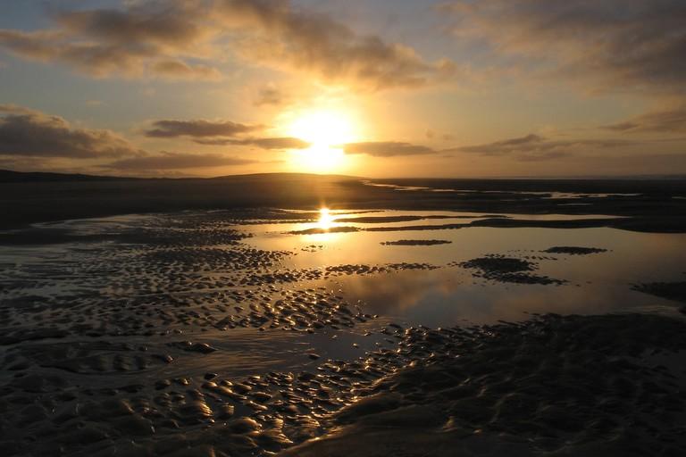 Sunset over Farewell Spit, Golden Bay