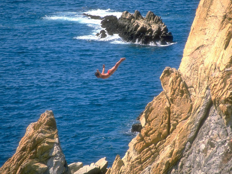 The famed divers of La Quebrada, Acapulco