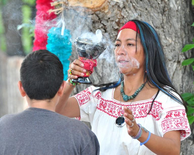 A traditional curandera