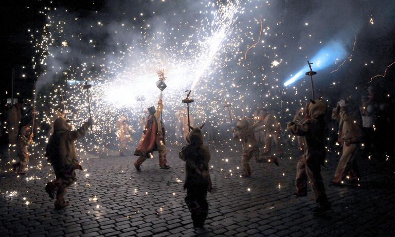 A correfoc at the Festa Major