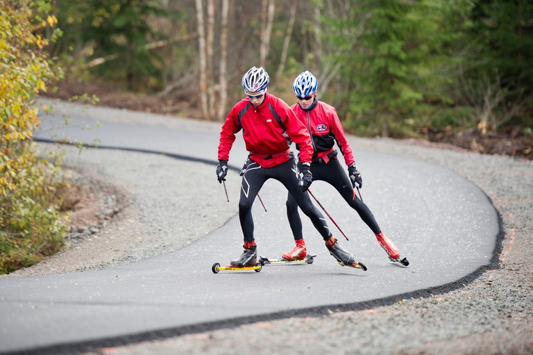 "Why not try ""rulleski"" or ""rolling skis"" while you're young and fit and in Oslo?"