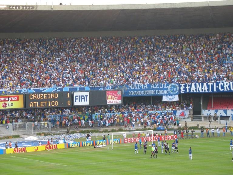 Cruzeiro vs Atlético Mineiro at the Mineirão Stadium