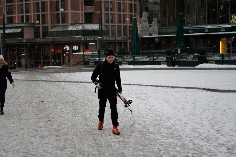 Prepare for skis everywhere – even on the central square