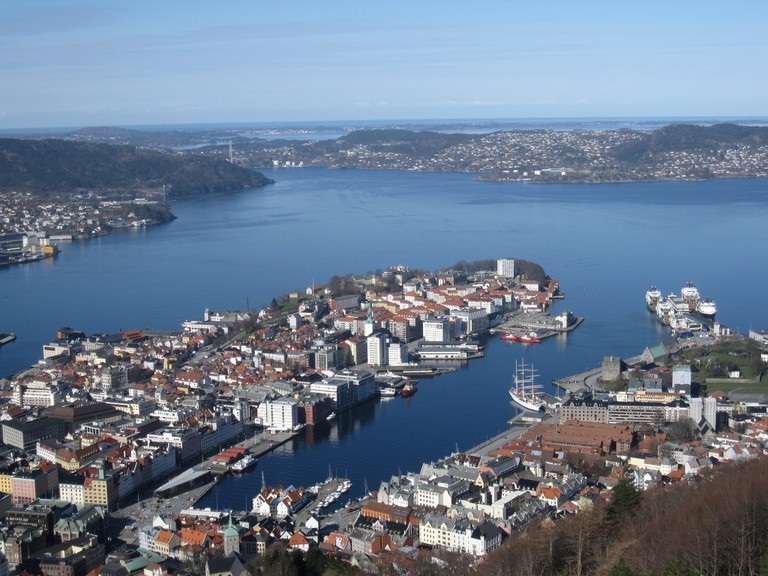 View of Bergen from Fløyen