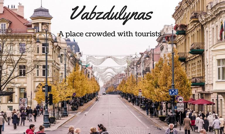 A street in Vilnius