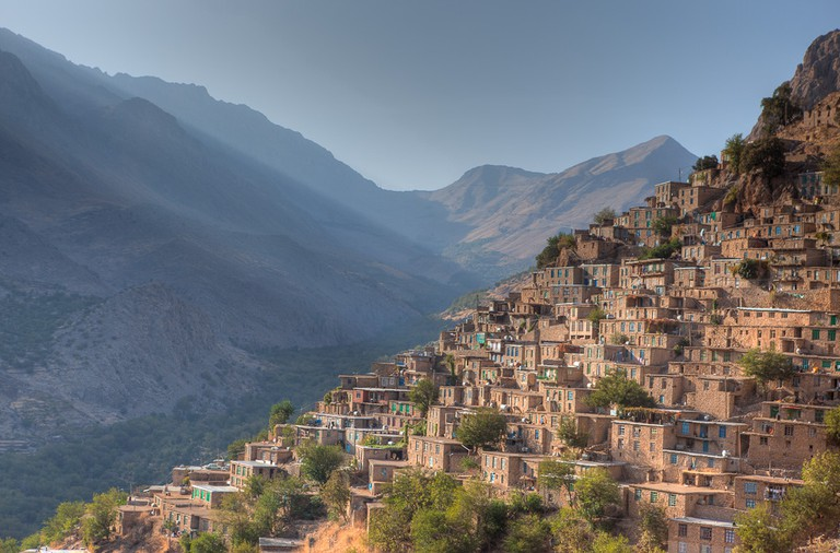 The village of Uraman Takht has been built into the mountainside