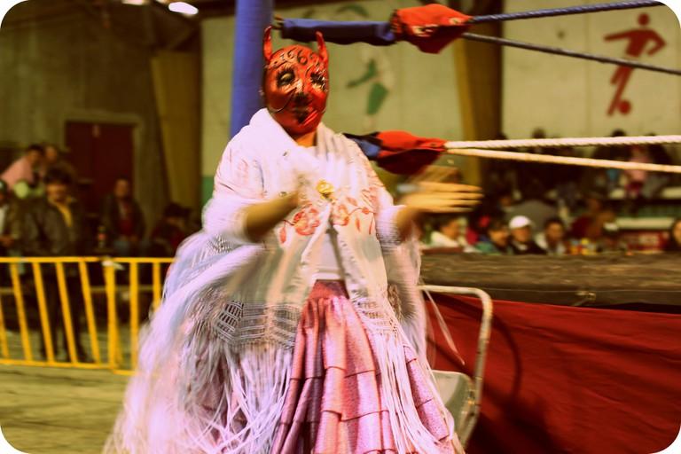 Cholita Wrestler