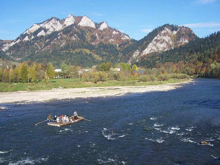 Rafting on the Dunajec River is the most popular tourist activity in Pieniny national park