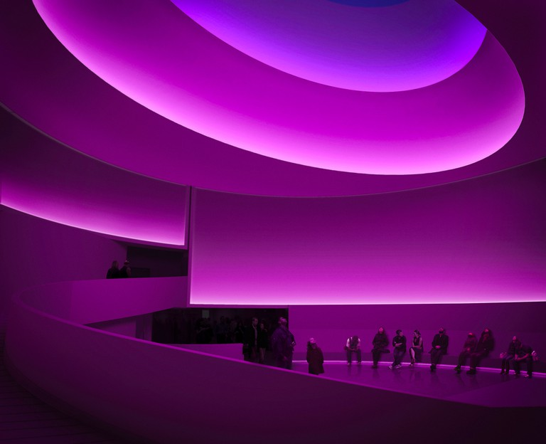 James Turrell, Rendering for Aten Reign, 2013, Daylight and LED light Site-specific installation, Solomon R. Guggenheim Museum, New York