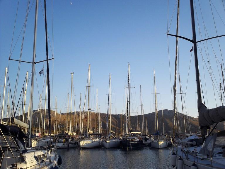 The marina in Leros