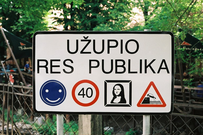 A sign in Užupis