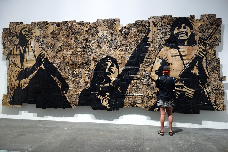 """Art Basel 2017, Unlimited, Kaufman Repetto, Andrea Bowers """"A Call to Arms: Building a Fem Army"""""""