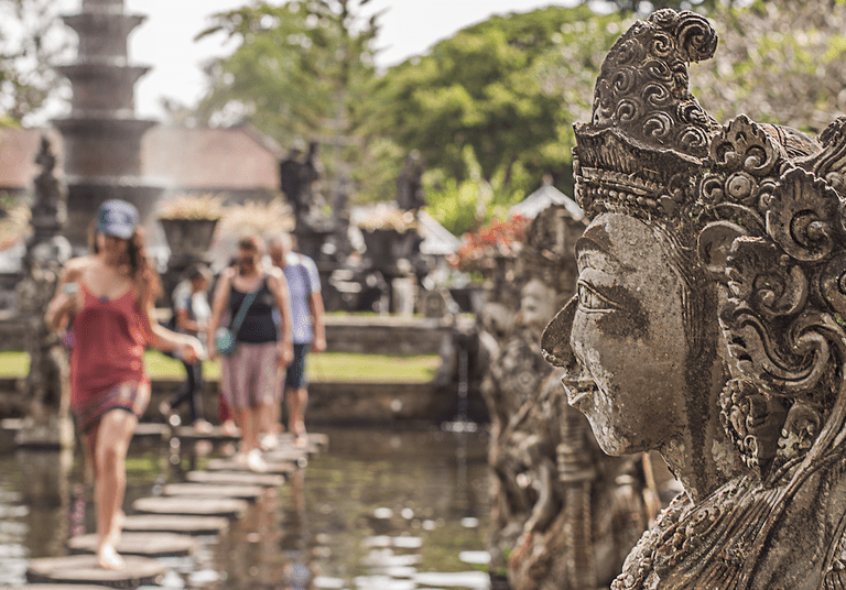 International tourists in Bali, Indonesia