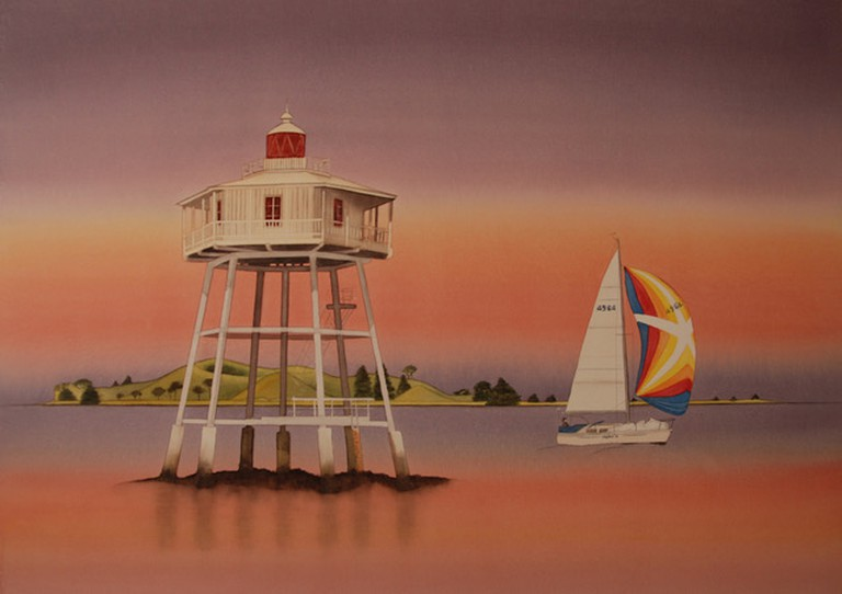 Bean Rock Lighthouse, by Carolyn Judge