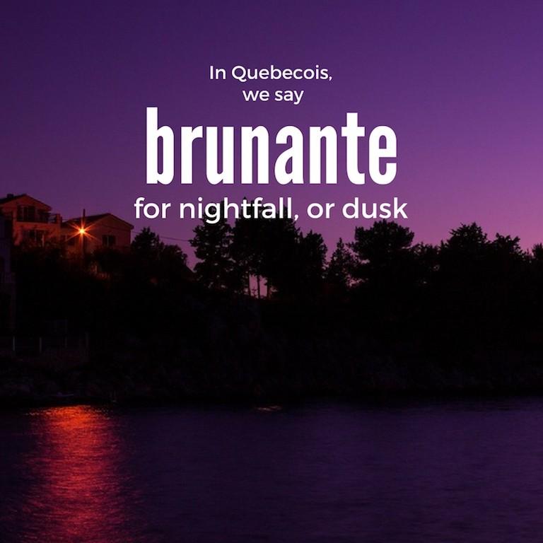 Brunante – Nightfall or dusk