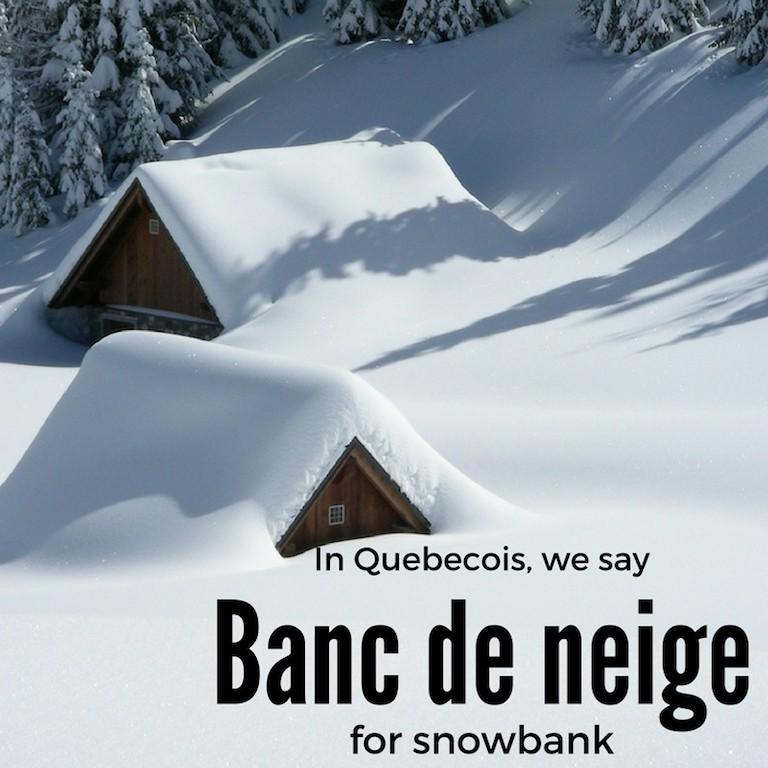 Banc de neige – Snowbank